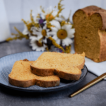 This is how a ready-baked vegan pumpkin bread recipe looks like